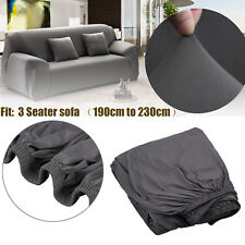 New Gray 3 Seater Removable Stretch Couch Sofa Lounge Covers Recliner Cover
