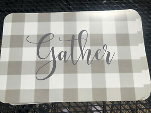 4 NEW GATHER Placemats PLACEMAT Plastic Table Decor PERFECT FOR THANKSGIVING