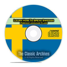 Learn How To Speak Swedish, Fast & Easy Foreign Language Training Course, CD E18