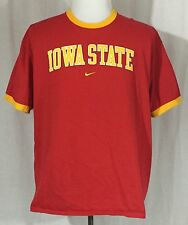 Iowa State Cyclones Red/Yellow Ringer Shirt Nike Men's XL