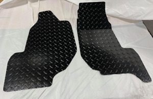 Kawasaki Teryx KRX 1000 Floor Boards Diamond Plate Alum Black Powdercoat  Set 2