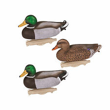 6 Flambeau Storm Front Classic Mallard Decoys 3 Drakes, 3 Hens Weighted Keel