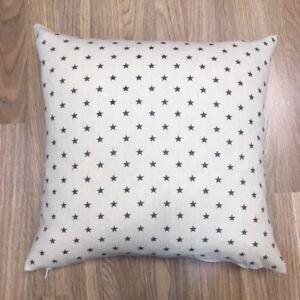 414. Handmade Grey Stars Natural Linen Cotton Cushion Cover. Various sizes