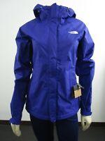 Womens The North Face Venture Waterproof Dryvent Hooded Rain Jacket Aztec Blue