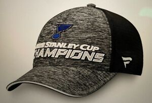 NEW Official PRO St. Louis Blues 2019 Stanley Cup Champions Hat - Locker Room
