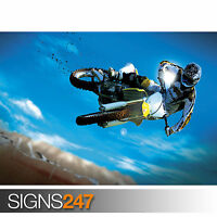 AMAZING MOTOCROSS BIKE STUNT (1732) Poster Print Art A1 A2 A3 - 2nd HALF PRICE!