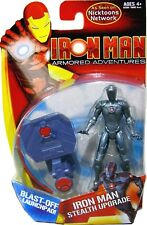 "Iron Man Armored Adventures 4"" Stealth Upgrade Nicktoons Factory Sealed Avenger"