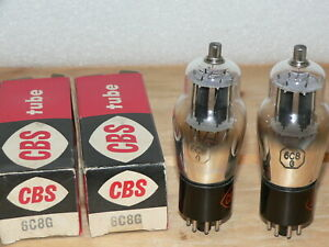 2 NIB CBS 6C8G Tubes (USA) SAME CODE