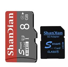 8gb micro sd card ShanDian Smart Class10 With SD Adapter Speed Transfer 80MB/s