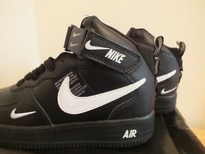 Nike Air Force 1 Mid Utility Black and White Tour Yellow