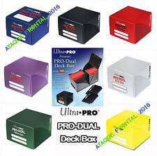 CAJA PRO-DUAL DECK BOX ULTRA PRO +180 CARTAS MAGIC, YUGIOH - ELIGE TU COLOR