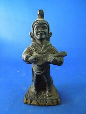 Vintage Hawaiian Coco Joe's Ukulele Guitar Playing Royal Menehune Figurine
