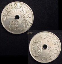 *GUTSE* FRANCO-98, 25 CÉNTIMOS 1937, EBC+