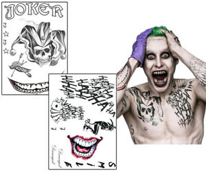 Joker Suicide Squad Fake Tattoos