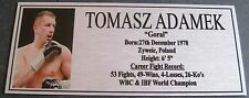Boxing TOMASZ ADAMEK. Photo Silver Free Postage