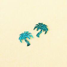Confettis de table palmier turquoise.  Décoration de mariage