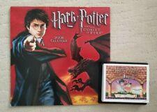 2006 Harry Potter & the Goblet of Fire Wall Calendar+2001 desk calendar w/games