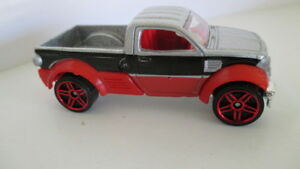 loose mint Hot Wheels 2007 mystery car DODGE M80 pickup truck   silver red black