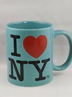 City Merchandise I ❤ Love NY Classic New York Coffee Cup/Mug Turquoise Free Ship