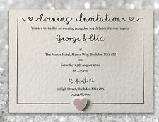 50 Wedding Invitations / Evening Invites Personalised & Handmade with Envelopes