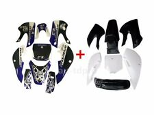 Plastic Fender Fairing Kit +Graphic Sticker For Kawasaki KLX 110 DRZ KX 65 Black