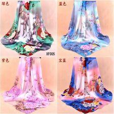 "US Seller- 10 chiffon shawls flower 37.4"" large square wholesale scarf women"