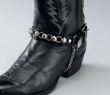 Set of 2 STARS & RINGS BLACK BOOT CHAINS 17403 western southwest accessories