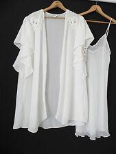 New Cinema Etoile Robe&Gown Set Ivory Chiffon Size S/M