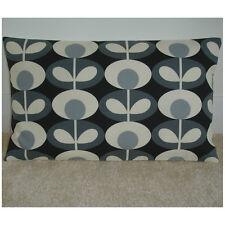 "20""x12"" Oblong Cushion Cover Orla Kiely Oval Flower Cool Grey Cream Retro 12x20"