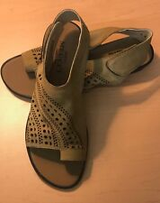 Womens Shoes Sesto Meucci Elax Camel Softna Leather Sandal Med Width $136 Retail