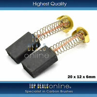 Generic 20 x 12 x 6mm Replacement Carbon Brushes for Various Power Tools