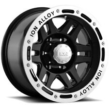 "4-Ion 133 17x9 6x5.5"" -8mm Black Wheels Rims 17"" Inch"