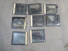 Lot de 8 PLAQUES PHOTOGRAPHIQUES anciennes, pour PROJECTION. Série JAPON.