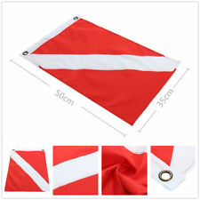 Big Diver Down Boat Pennant Flag Scuba Diving Banner International Sign