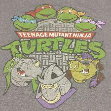 Teenage Mutant Ninja Turtles Gray Medium T-Shirt Cartoon TMNT TV Show Movie Soft