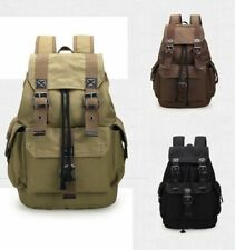 Men Women Vintage Canvas Backpack Satchel Rucksack School Bag Travel Camping