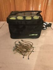 Conair Hot Rollers Compact Travel Case Instant Heat 12 Rollers with Clips