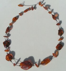 925 silver and amber necklace