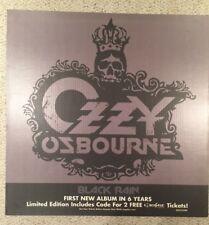 Ozzy Osbourne Black Rain Limited Edition Cardboard Promo Poster 24x24