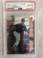 1995 Upper Deck Minor League Foil #1 Derek Jeter PSA 10 Top 10 Prospects RC