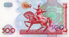 BILLET OUZBEKISTAN 500 ROUBLES 1999 STATUE EQUESTRE / ARMOIRIES -
