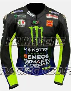 New Yamaha Motogp Motorcycle / Motorbike Racing Street Gear Leather Jacket