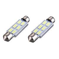 2 x Weiss Canbus 42mm 5630 SMD 6 LED DC 12V Kennzeichenbeleuchtung Innenbeleu s8