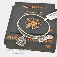 Authentic Alex and Ani Healing Love(ii) Rafaelian Silver Expandable Charm Bangle