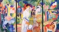 "perfect oil painting handpainted on canvas"" zoological garden ""NO7832"