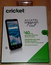 Cricket Wireless Alcatel OneTouch Flint 4G LTE Cell Phone NEW