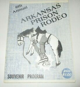 1977 6th Annual Arkansas Prison Rodeo Program - With Events Insert
