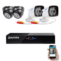 Eyedea 4CH DVR 1080P Outdoor Night Vision Phone View CCTV Security Camera System