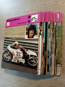 lot de 100 fiches Editions Rencontre cartes moto motocyclisme  1976/80