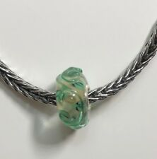 Authentic Trollbeads Unique OOAK Bead Green Stems Leaves CC LAA Stamped New!!